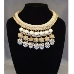 ANTHROPOLOGIE CLUSTER STATEMENT CHOKER NECKLACE